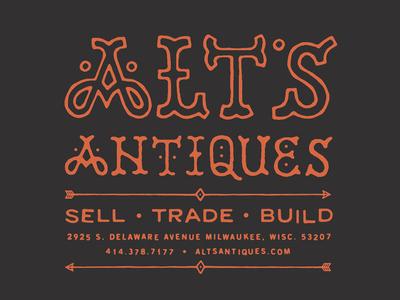 Alt's Antiques - Utility Pocket T-Shirt Back