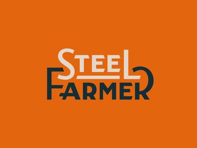 Steel Farmer typography type font branding farmer steel lettering logo