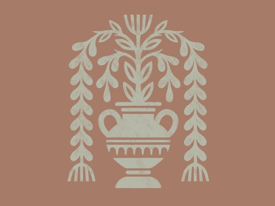 Alt's Vase drawing illustration lettering painting sign painting weddings plants floral antiques alts