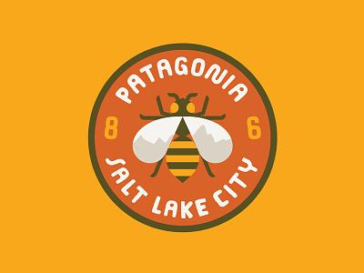 Patagonia - Salt Lake City Outpost nature illustration logo bee badge sticker patch patagonia