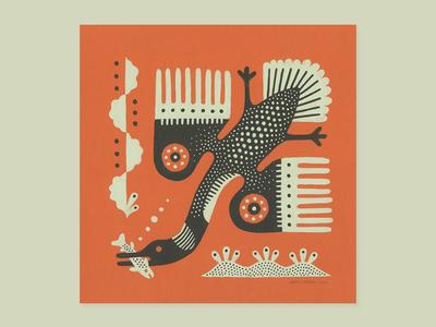 Loon gouache bird loon animal painting illustration