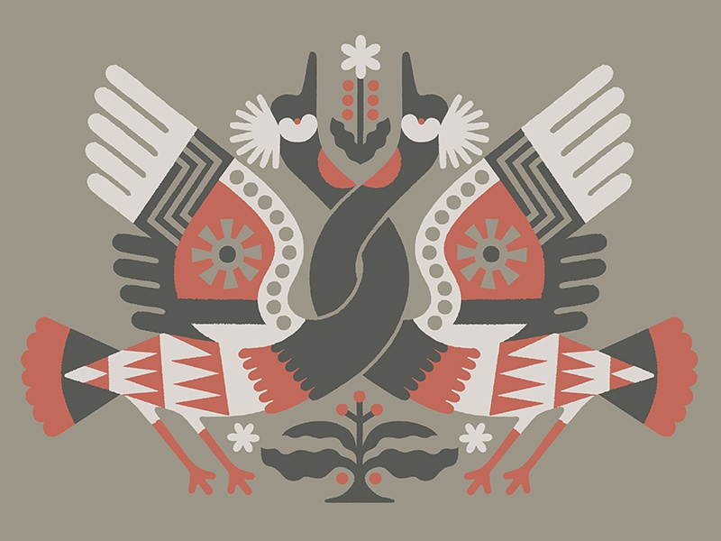 Killer Roasting Co. - Rwanda coffee africa bird crane animal rwanda illustration