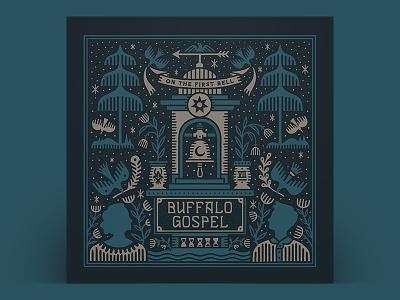 Buffalo Gospel - On the First Bell packaging type lettering illustration cover album