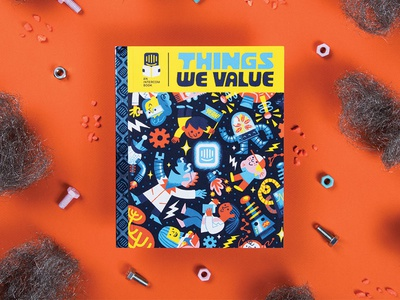 Intercom: Things We Value handbook future retro design childrens book illustration intercom