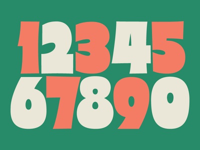 Supa Sign Numbers grocery signpainting sign draw typography design lettering type