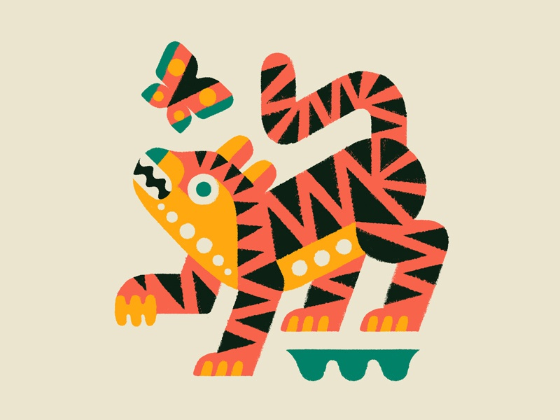 Bengal doodle draw animal art animals tiger painting drawing illustration