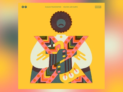 10x18 No. 7 - Kamasi Washington people draw drawing music portrait album artwork album art art type illustration