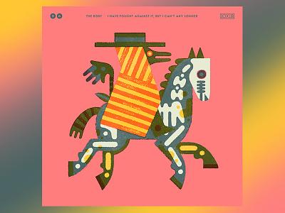 10x18 No. 6 - The Body album album artwork album art design drawing illustration
