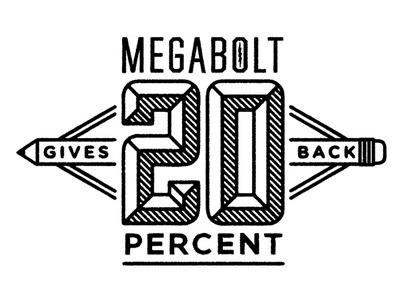 Megabolt 20% Gives Back megabolt logo 20 percent gives back charity kids art program