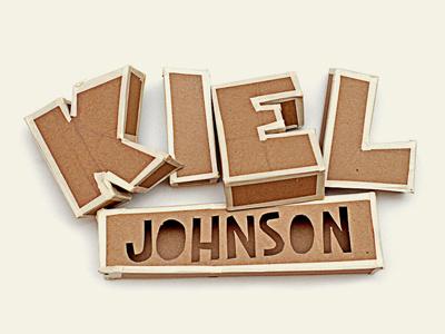 Hi-Fructose Magazine - Kiel Johnson hi-fructose magazine art design cardboard kiel johnson typography