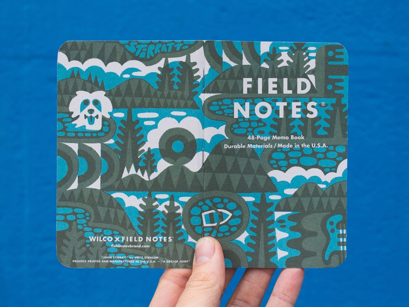 FIELD NOTES x WILCO!!! mountains forest trees nature illustration design band wilco sketchbook field fieldnotes
