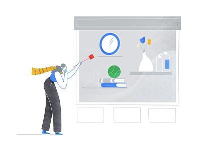 Google Styleframe colorful web illustration motion styleframe texture flat character character design vector illustration