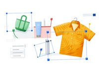 G-Suite Retail colorfull gsuite coatofarms still texture styleframe design flat vector illustration