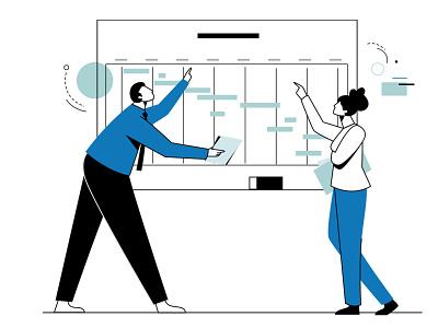 AVIA Website web illustration flat branding design minimal character design illustration