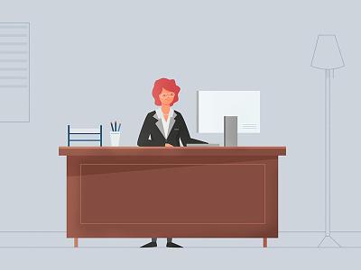 Secretary Office vector minimal office secretary