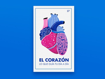EL CORAZON... LOTERIA illustration patterns corazon heart mexican cards loteria