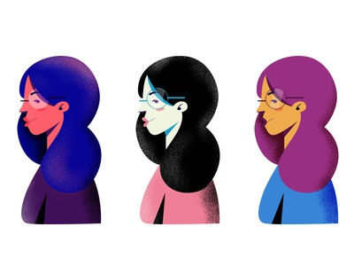 GIRL COLOR STUDIES illustration texture girl palettes studies color