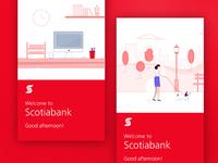 Scotiabank Canada App Illustrations