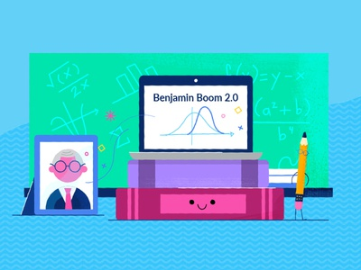Khan Academy Benjamin Boom characters flat colorful minimal texture character design illustration styleframe