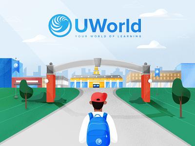 UWorld University video animation illustracion motion art texture character design vector characters illustration