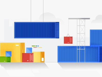 Google Shipping Banner gsuite minimal vector google ad banner google design ui minimal flat vector illustration