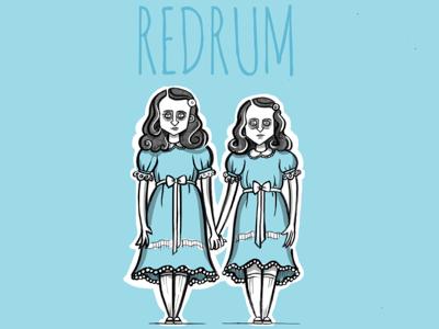 REDRUM the shinning redrum kubrik stephen king illustration movie film