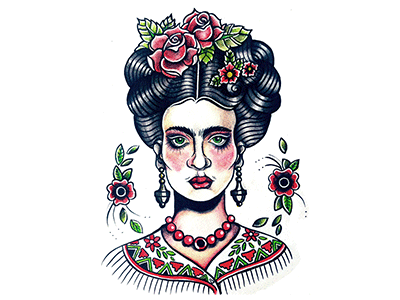 Frida Kahlo frida kahlo illutration tattoo traditional old school mexico