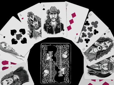 Ace of Spades Playing Cards lemmy playing cards deck motorhead rock music heavy hard rock zappa angus guitar