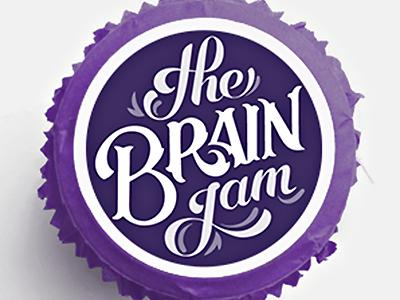 Lettering Branding vintage script label mason jar branding jam lettering