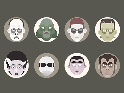 Flat Universal Monsters