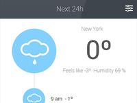 Weather app - Blue color