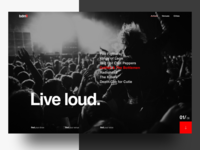 Music Venue Landing Page