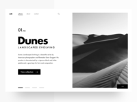 Photography Site Landing Page