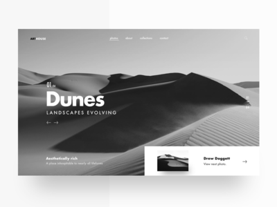 Photography Landing Page Iteration