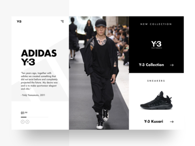 Adidas Landing Page Concept