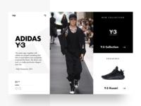 Adidas Landing Page Concept
