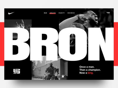 Lebron James concept hero webdesign basketball typogaphy nike ui ux landing page