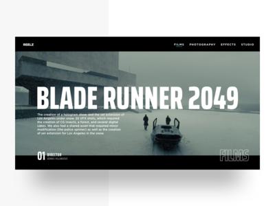 Blade Runner 2049 Landing Page landing page web design landing movies blade runner 2049 typograpgy ui design