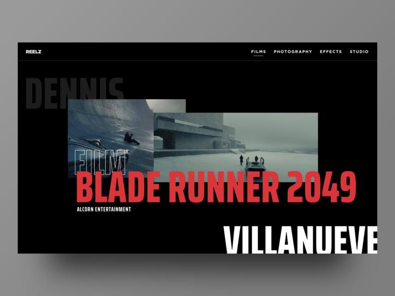 Blade Runner 2049 Studio Landing ui design ui interface minimal blade runner 2049 photography minimalism typography uidesign ux studio agency landing