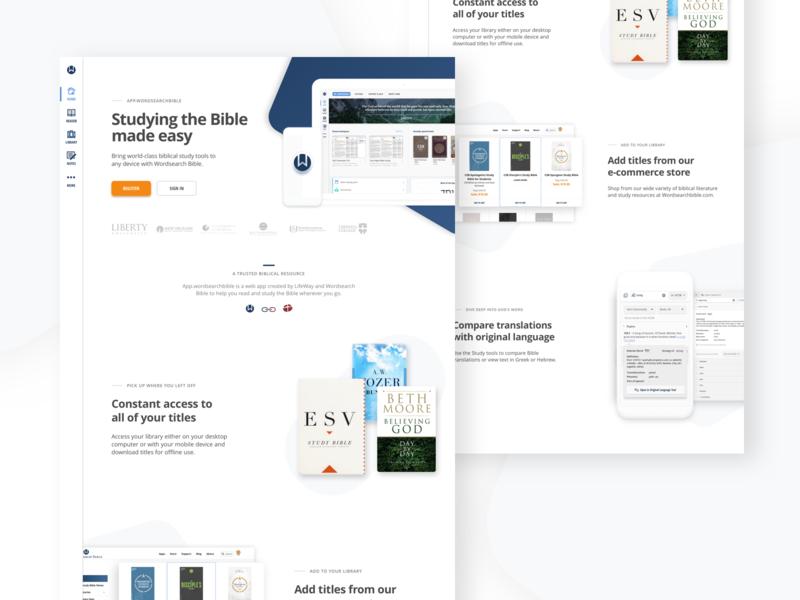 Study App Marketing/Landing Page web design landing page ux ui