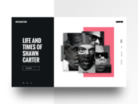 Jay-Z Artist Page Concept