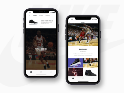 Jordan Sneaker App mobile ui sneakers design app mobile app design iphone xr mobile ux ui