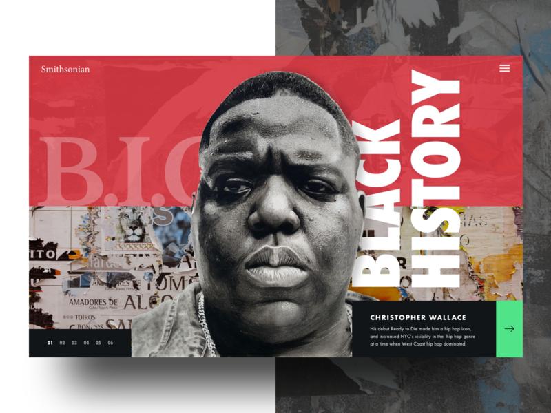 Black History Month Concept modern website collage music hiphop blackhistorymonth typography web design ux design ui design ux ui