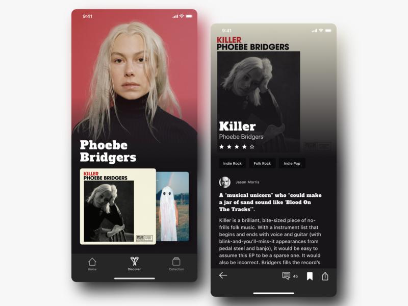Music Review App app design mobile app design app typography music ios mobile app mobile ux design ui design ux ui