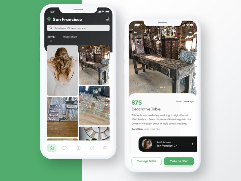 Marketplace App Exploration fashion minimal mobile typography web design ux design ui design ui ux