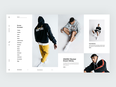 Online store of clothes(main page) fashion web wear ux ui store shop minimal grid ecommerce clothes