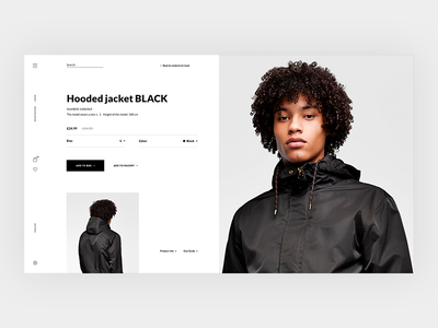 Product page of store clothes ecommerce fashion grid minimal shop store ui ux wear web