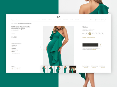 Thx - luxary clothing store. Product page shop beauty ui ux girl minimal store ecommerce clothes fashion