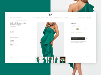 Thx - luxary clothing store. Product page