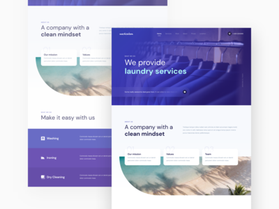 Laundry Services laundry service ironing washing dry cleaning clothes home page landing page design laundry landing page landing page homepage ui design figma branding